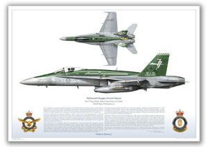 FA-18 Hornet in 77SQN retirement scheme