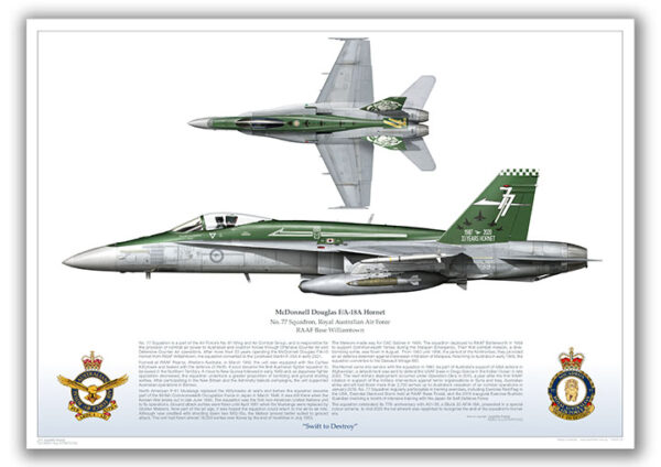 FA-18 Hornet in 77SQN retirement scheme